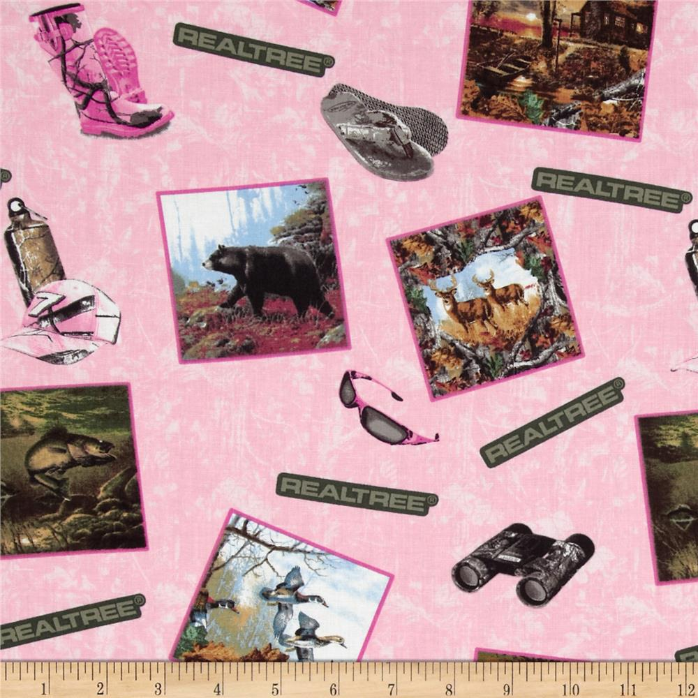 Realtree Postcards Allover Pink