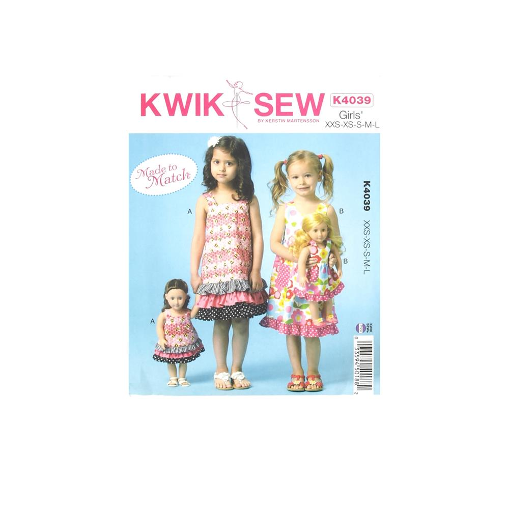 Kwik Sew Girls' Dresses Pattern