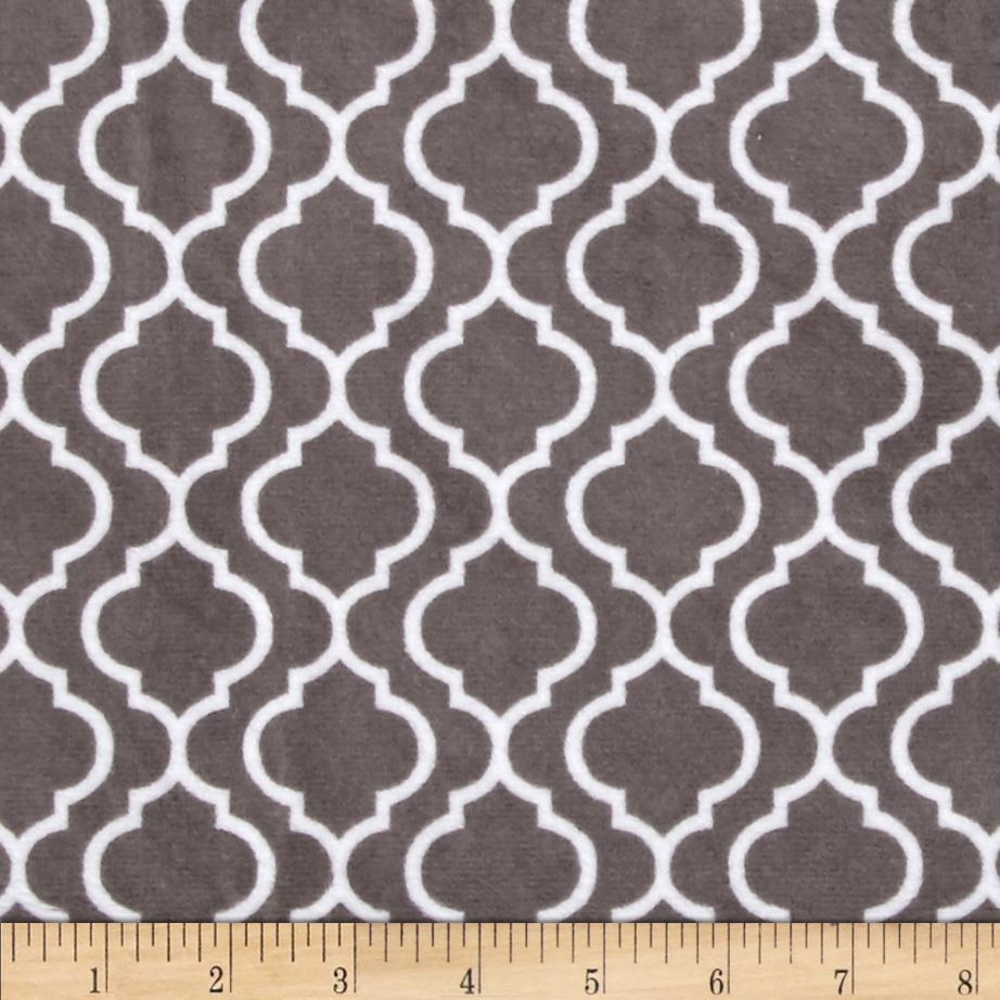 Minky Cuddle Classic Trellis Charcoal Fabric