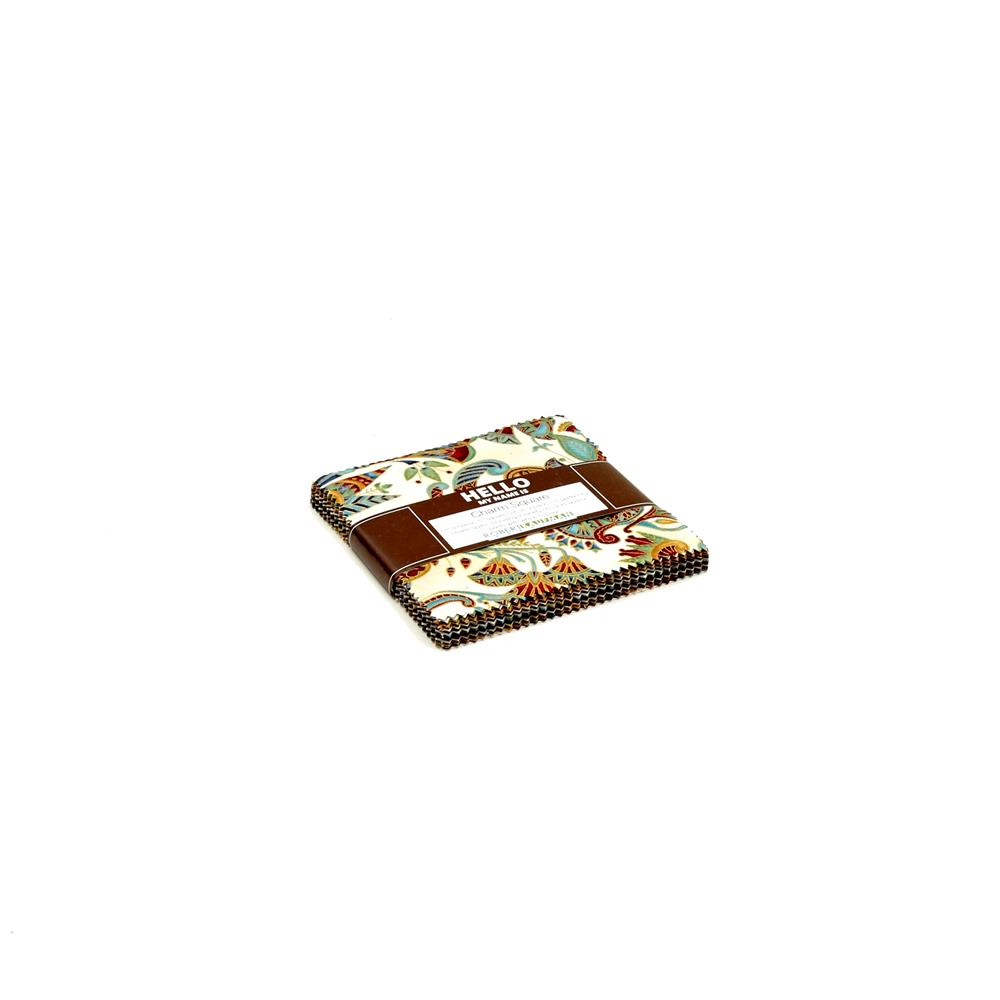 "Kaufman Valley of the Kings 5"" Charm Square Spice"