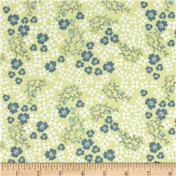 Laugh Love Quilt Viney Floral Green