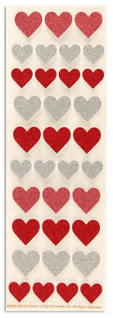 Martha Stewart Crafts Glitter Heart Stickers