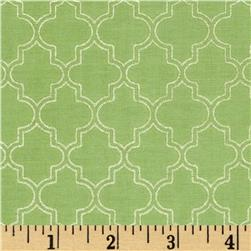 Pearl Essence Quatrefoil Green