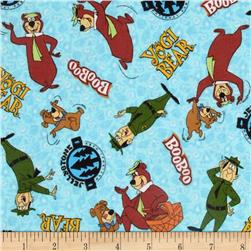 Flannel Tossed Yogi Bear Blue