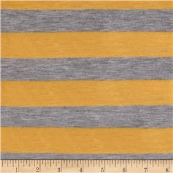 Jersey Knit Stripes Yellow/Gray