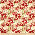 Christmas In Bloom Packed Flowers Cream
