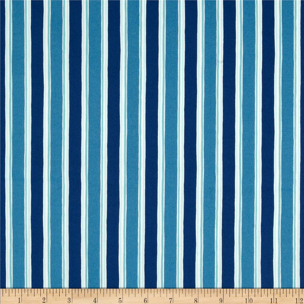 Moda Seascapes Nautical Stripe Navy