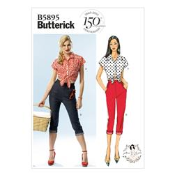 Butterick Misses' Top and Jeans Pattern B5895 Size AX5