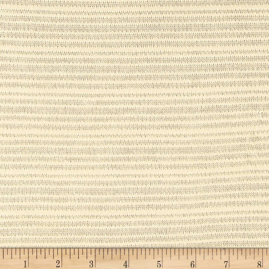 Fine Gauge Knit Shadow Stripe Ivory