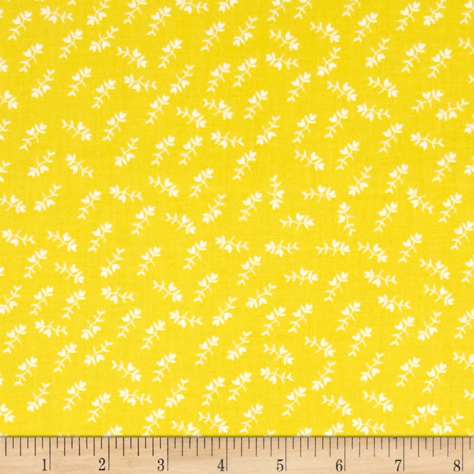 Maribel Mono Floral Yellow Fabric by Windham in USA