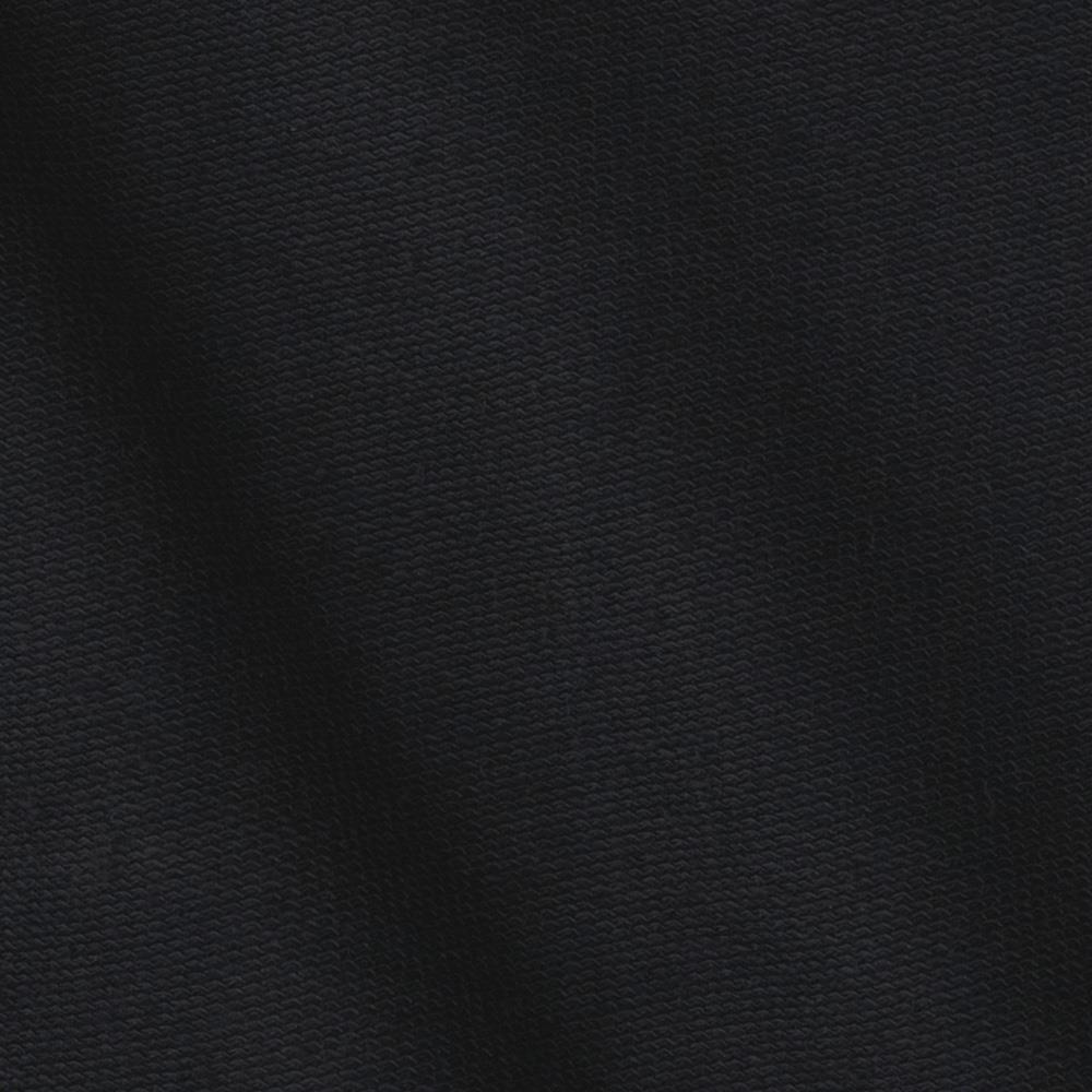 Cotton French Terry Knit Black