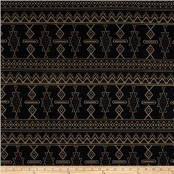Sweater Knit Tribal Black