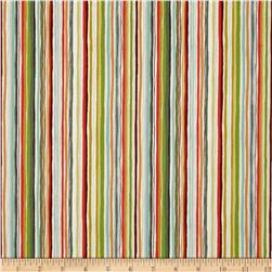 Forest Friends Stripe Orange/Green/White