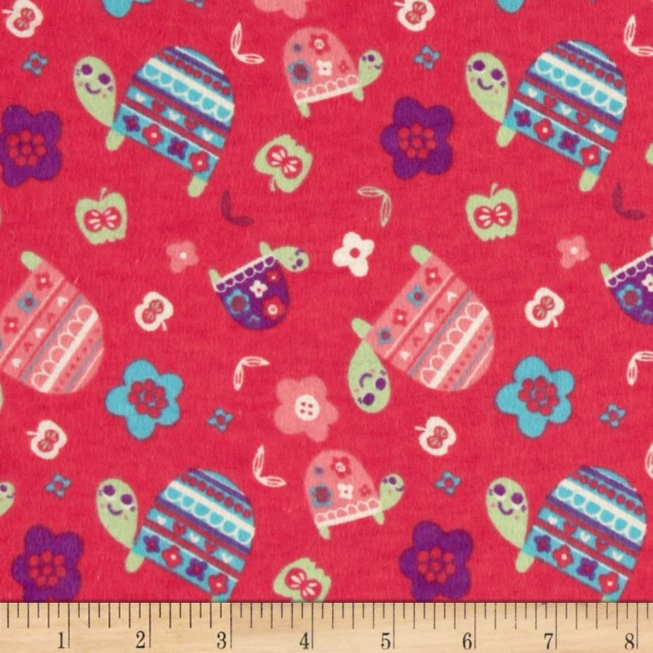 Flannel Turtles Fuchsia