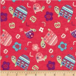 Flannel Turtles Fuschia