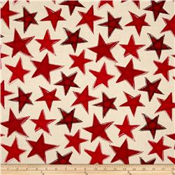 Marblehead Valor Large Stars Red/Beige
