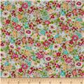 Cosmo Garden Delight Small Floral Lawn Turquoise