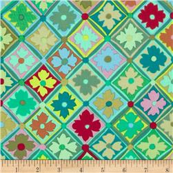 Kaffe Fassett Antwerp Flowers Green Fabric