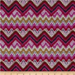 Juliette Jersey Knit Chevron Magenta/Tan