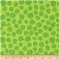 "110"" Wide Quilt Backing Swirl Lime"