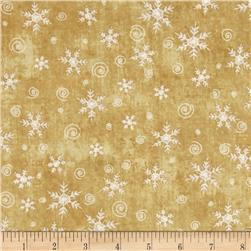 Christmas Whimsy Snowflakes Gold