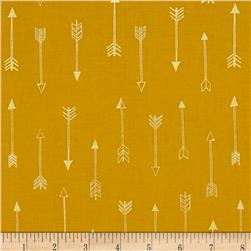 Michael Miller Arrow Flight Metallic Arrows Gold