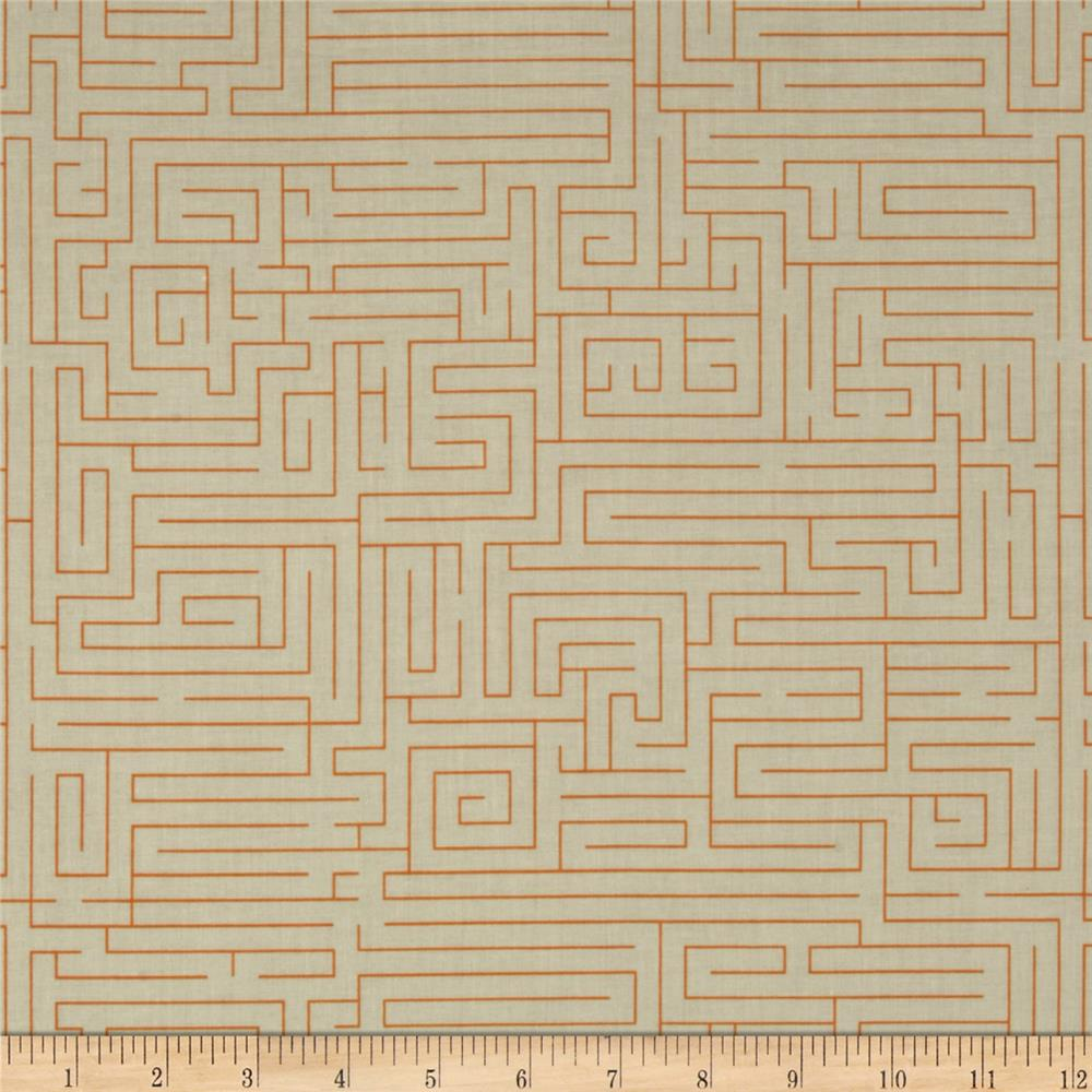 Riley Blake Fun & Games Maze Orange