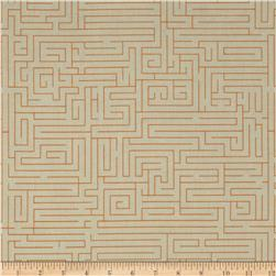 Riley Blake Fun & Games Maze Orange Fabric