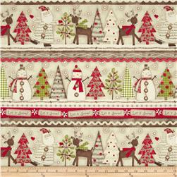 Holiday Stitches Shelf Stripe Beige