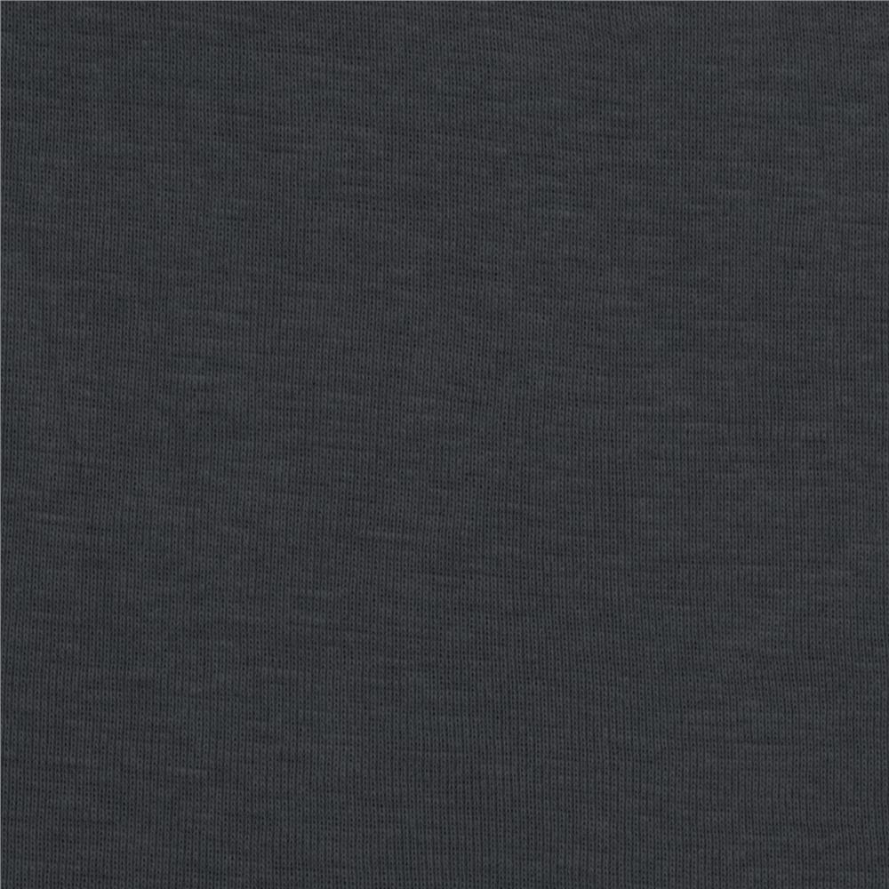 Organic Cotton Baby Rib Knit Charcoal