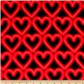 Kanvas Luv to Dance Neon Hearts Red