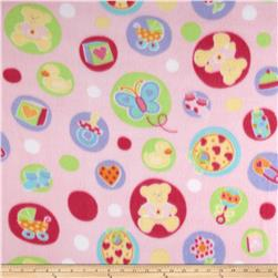 Fleece Print Welcome Baby Pink