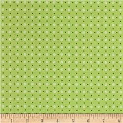 Riley Blake Bee Basics Polka Dot Green