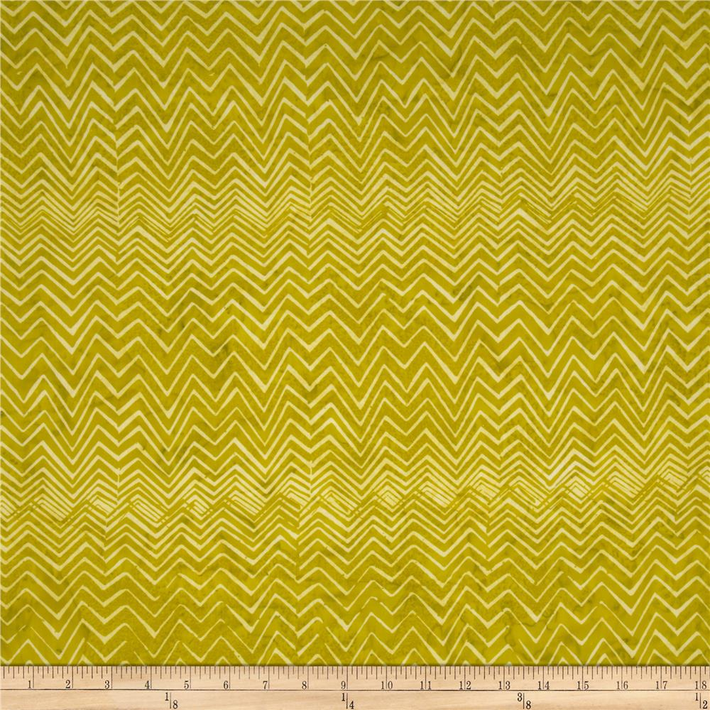 Bali Batiks Handpaints Chevron Key Lime