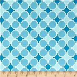 Riley Blake Laminate Splendor Geometric Blue