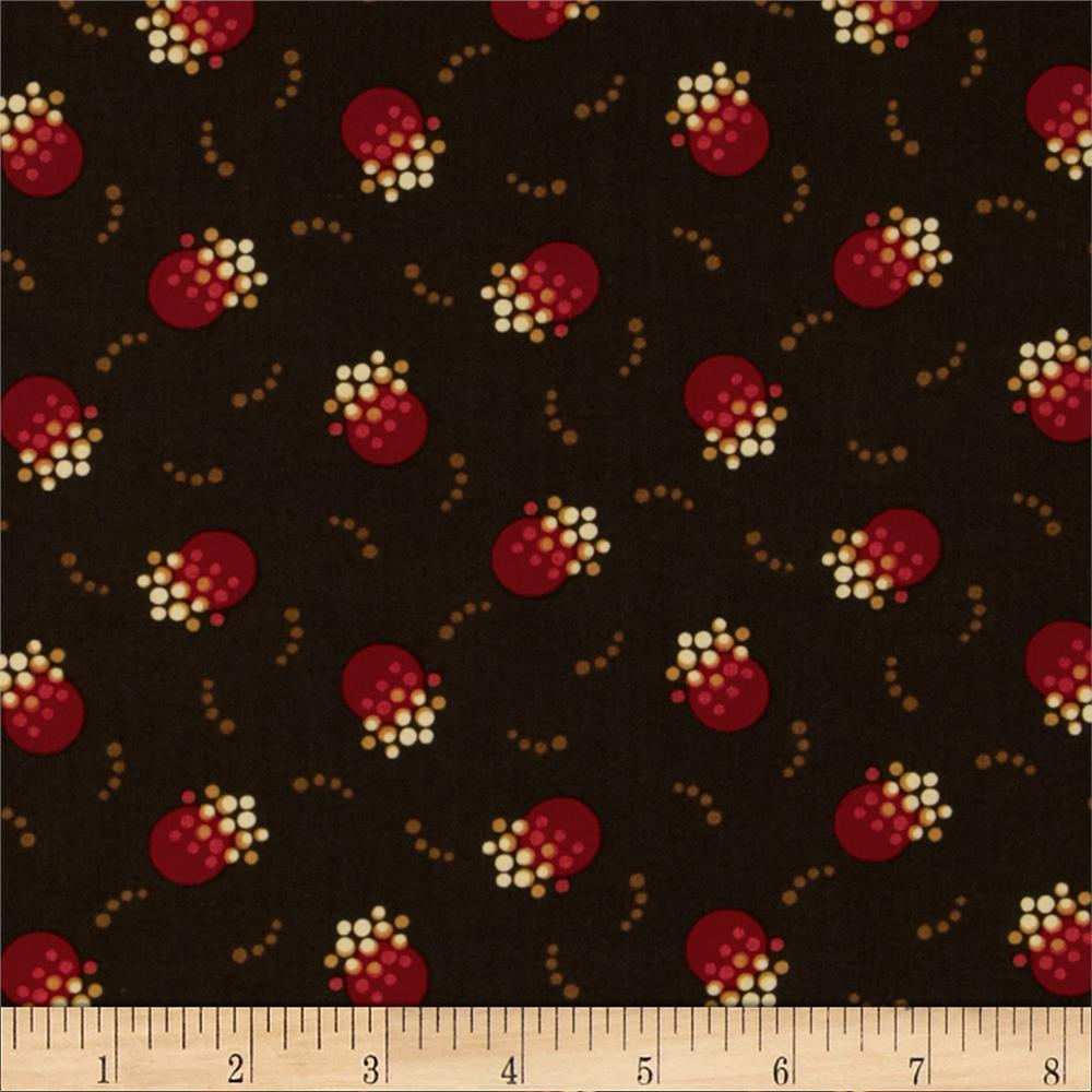 Retro Geo Dots Brown