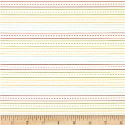 Riley Blake School Days Stripe Cream