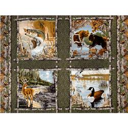 Realtree Pillow Panel Grey Fabric