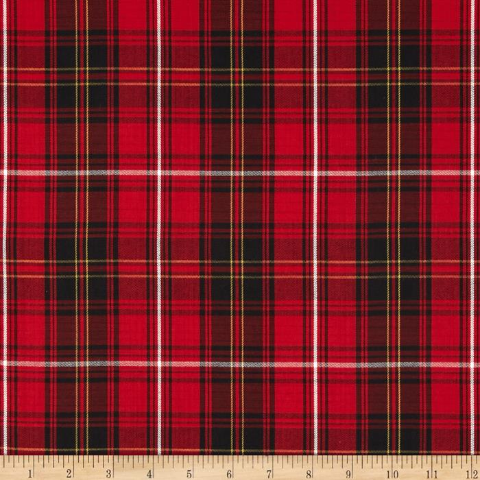 House of Wales Plaid Red