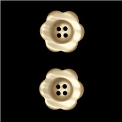 "Riley Blake Sew Together 1 1/2"" Flower Button Cream"