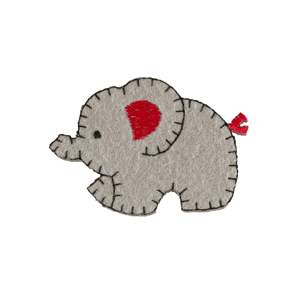 Mother Elephant Applique Grey