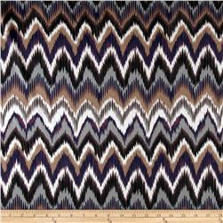 Monaco Stretch ITY Jersey Knit Chevron Grape