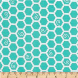 Kimberbell Little One Flannel Too! Flannel Honeycomb Teal