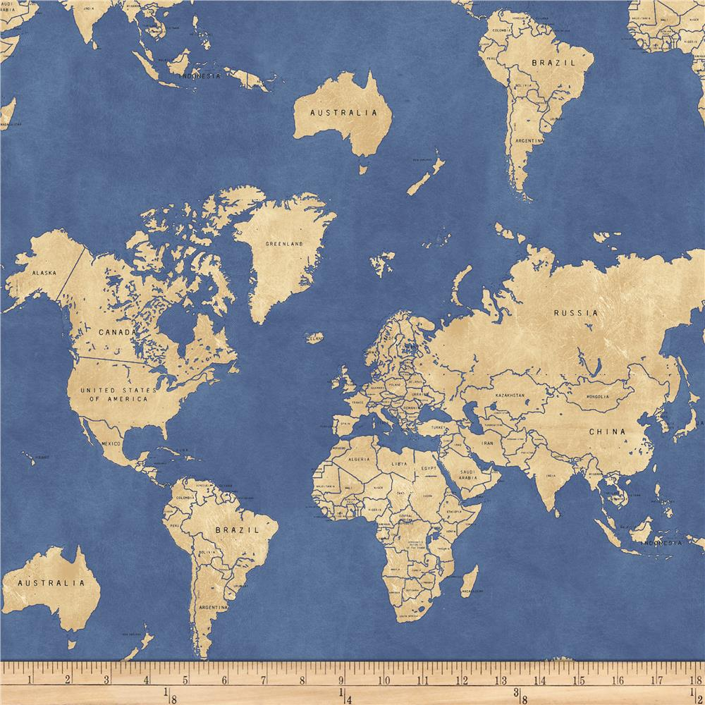 Whistler Studios Passport Map Of The World Ocean