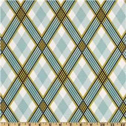 Joel Dewberry Modern Meadow Picnic Plaid Pond Fabric
