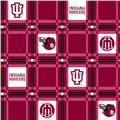 Collegiate Tailgate Vinyl Tablecloth Indiana University Crimson/Cream