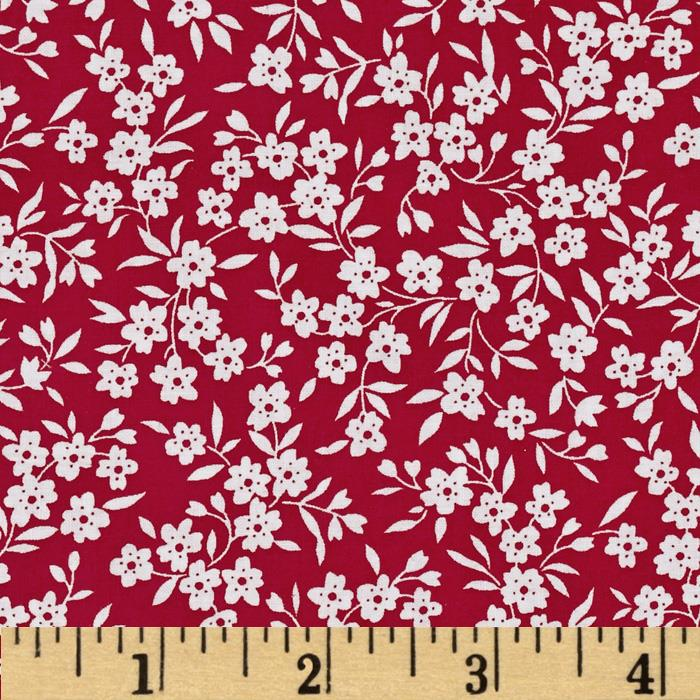 Lazy Daisy Baskets Small Floral Vines Red