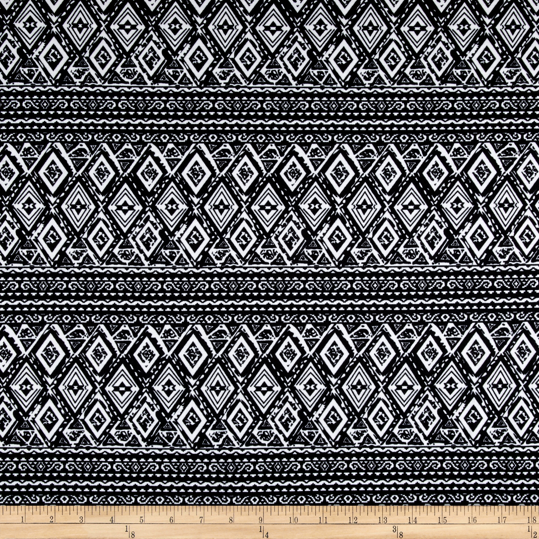 Ponte De Roma Tribal Black/white Fabric