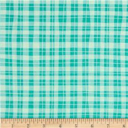 Naughty Puppies Puppy Gingham Turquoise