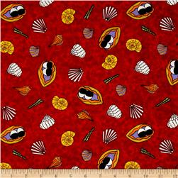 Under The Sea Seashells Red/Yellow/White
